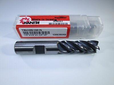 Hanita Tm4v0513015 Carbide 12 Varimill Endmill Hard Steel Alloy Lathe Milling