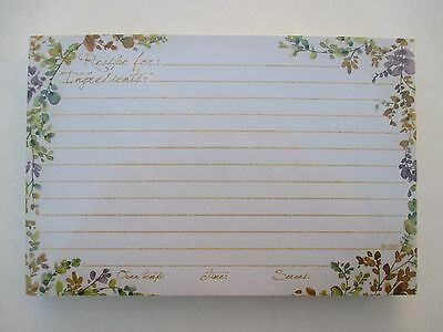 Spiced Nature 50 Lined Recipe Cards card 4x6 Legacy paper Bridal shower gift