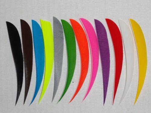 "TrueFlight 5"" Parabolic Feathers - 12 Pack, RW or LW"