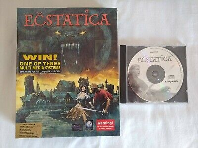 Ecstatica Big Box PC CD ROM Vintage Rare Computer Game Psygnosis - 1994 - Retro, used for sale  Shipping to Nigeria