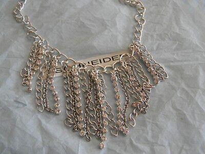 Premier Designs GIRL'S BEST FRIEND silver chain crystal bib only RV $76