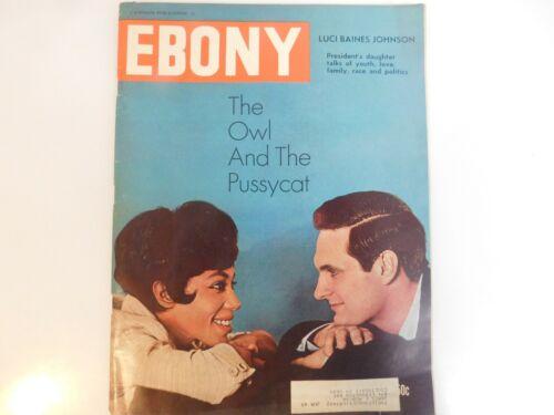 FEBRUARY 1965 EBONY MAGAZINE THE OWL AND THE PUSSYCAT CIVIL RIGHTS EDUCATION