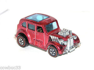 1971 Hot Wheels Redline Cockney Cab HK RED TUF GREAT WHEELS & BASE! SHOWS!