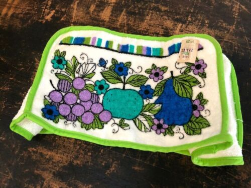 NOS Vintage GEORGES BRIARD Style TOASTER COVER Mid-Century Mod MCM 1950s FRUIT