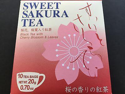New Tea Boutique Sweet Sakura Black Tea Cherry Blossoms 10 Packs Ocha JAPAN
