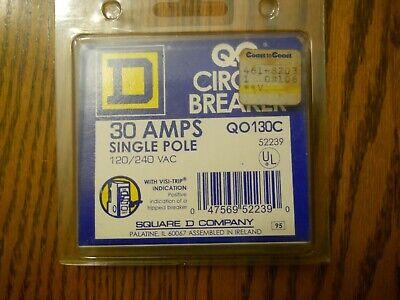 Square D 30 Amp Single Pole Circuit Breaker New Qo130c Free Shipping