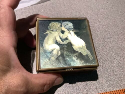 Via Vermont Angles Stained Glass Jewelry/Trinket Dresser Box