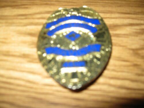 Obsolete Vintage Wells Fargo Bank Security Services Gold Eagle Badge #46191
