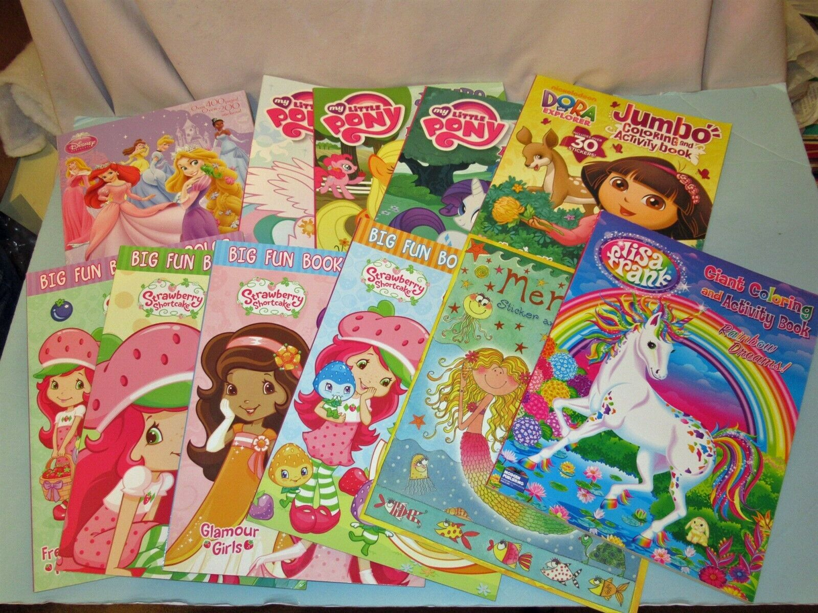 - Lot 11 New Coloring Book Strawberry Shortcake My Little Pony Lisa
