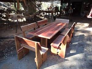 7 Piece Rustic Bush Timber Dining Setting, Seats 12 People Bundaberg Surrounds Preview