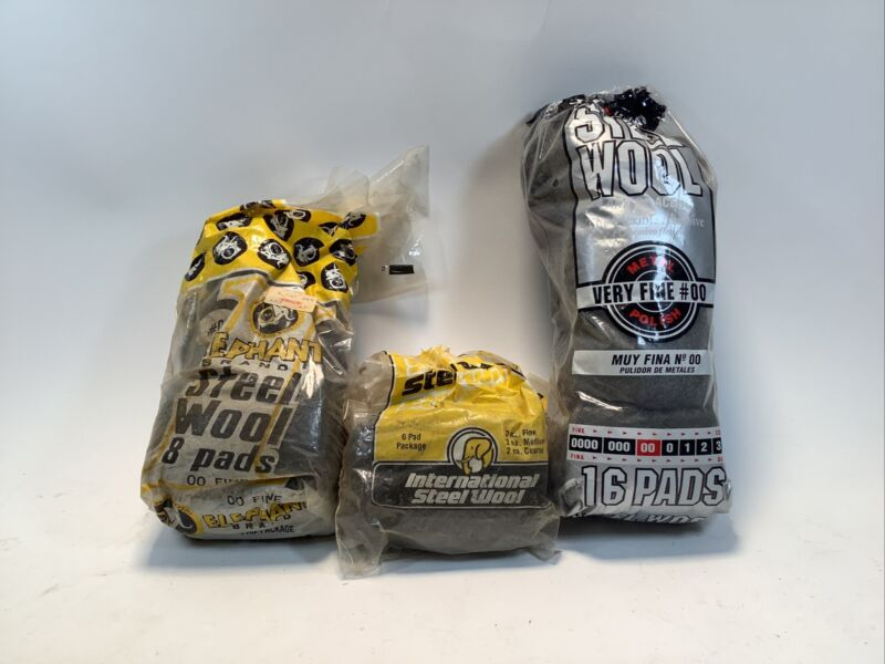 Assorted Lot Of Steel Wool Pads Open And Unopened