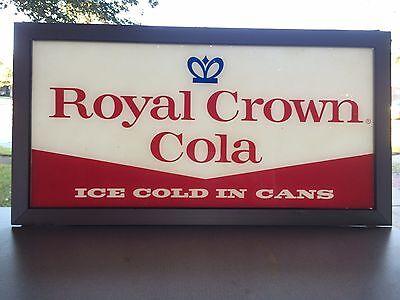 VINTAGE 1950'S ROYAL CROWN COLA RC ADVERTISING SIGN SODA POP VENDING MACHINE