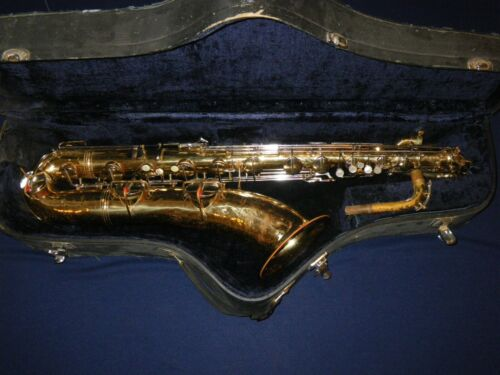 c.1955 CONN 12M NAKED LADY BARITONE SAXOPHONE - BARI SAX - plays, but needs work