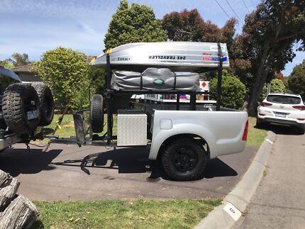 Roof top camper trailer