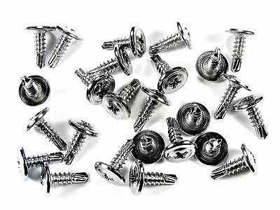 GM Chrome Wheel Well Trim Molding Screws- Self Tap Low Profile- 25 screws- #230