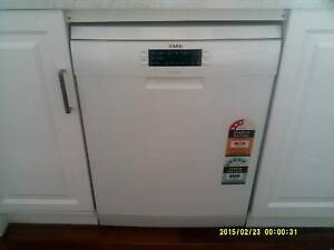 AEG  with Three Years Warrantee-  Free Standing White Dishwasher Largs Bay Port Adelaide Area Preview