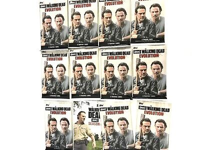 2017 TOPPS AMC  THE WALKING DEAD EVOLUTION  PACKS ( 12 PACK LOT )