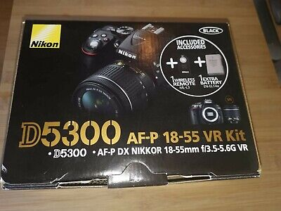 Nikon camera D5300 VR Kit plus extras (Shutter count 29)