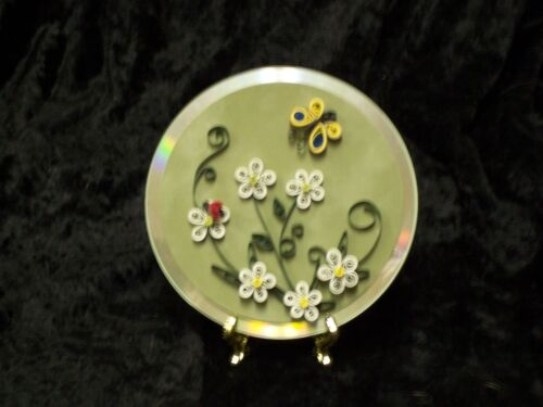 Paper Quilling on a CD