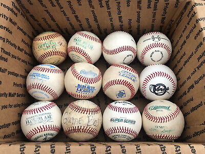 24 Used Baseballs - Mostly Little League Balls - Various Brands - Leather