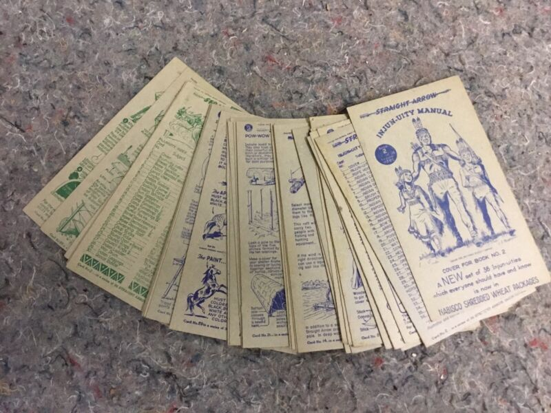 Lot Of 1950's Straight Arrow Cards By Nabisco - partial