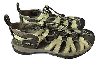 KEEN Whisper Womens 5124 Nile Green/Natural Gray Waterproof Hiking Sandal Sz 8
