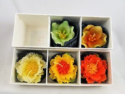 Peonia & Lily Floating wax Candles Set of 5, Scented New In Box Home Decor