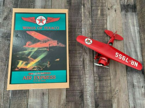 Vintage Wings of Texaco 1929 Lockheed Air Express Die-Cast Airplane Coin Bank