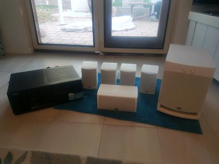 PSB Surround sound speaker system with Denon amp