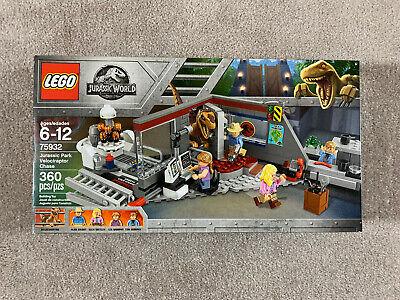 LEGO 75932 Jurassic World Jurassic Park Velociraptor Chase set - New Sealed Box