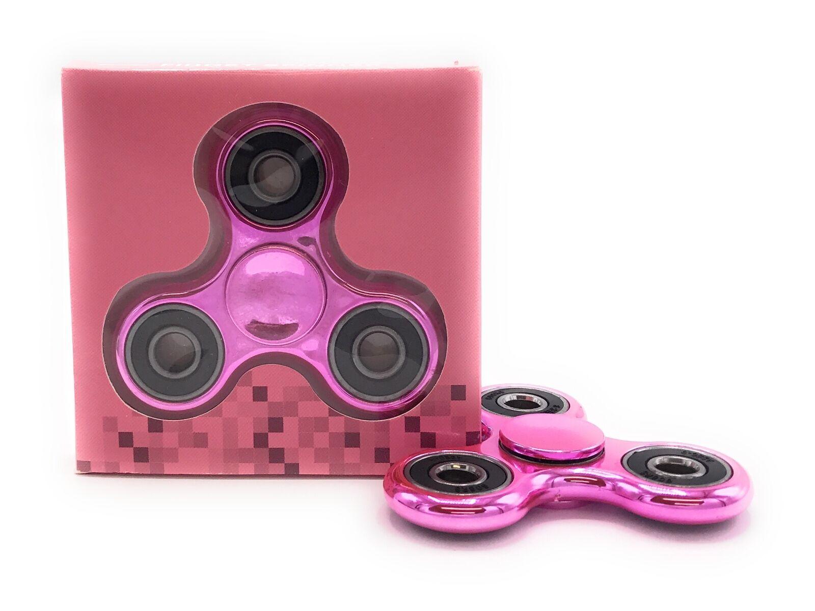 Bangers Spinner doigt main Focus SPIN ACIER EDC anti stress jouets UK Rose Rainbow