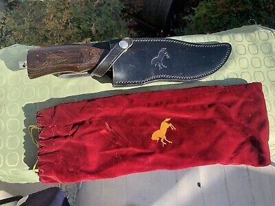 Vintage 1970s Colt Sheffield England Large Bowie Knife 12 Inches Long W/ Sheath