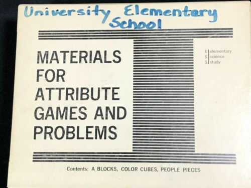 1967 Materials for Attribute Games & Problems 79896 Elementary Science Vtg