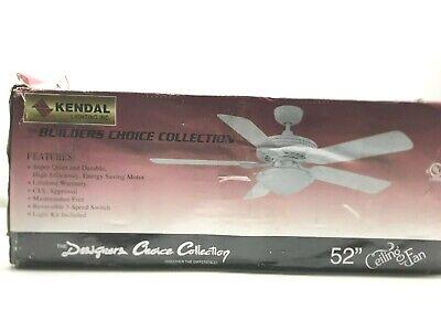 Kendal Lighting Inc. AC18552-SN BuildersIndoor Ceiling Fan Satin Nickel LOT 0985