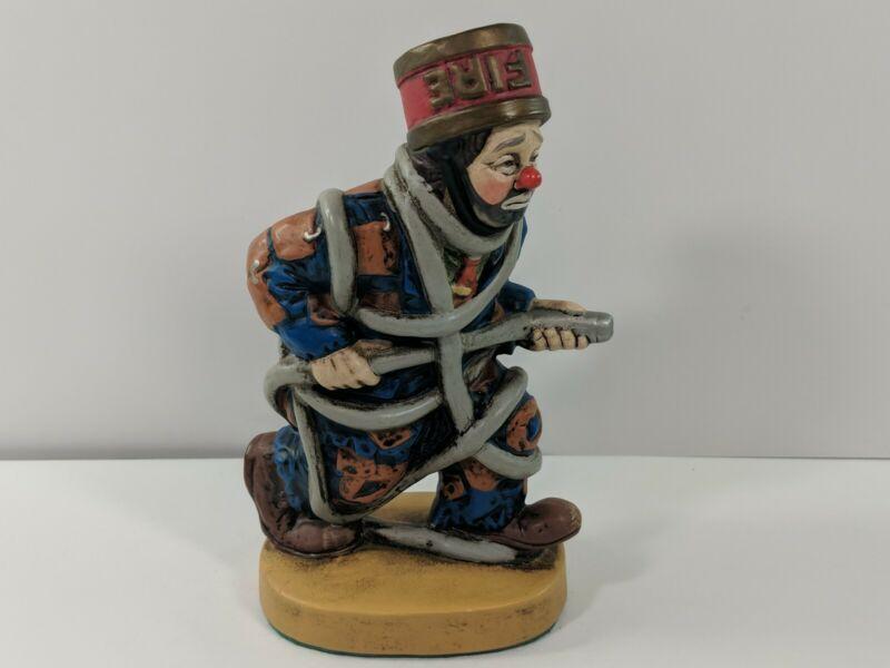"D.G.C. 1988 Fireman Statue Ceramic 7"" Tall"