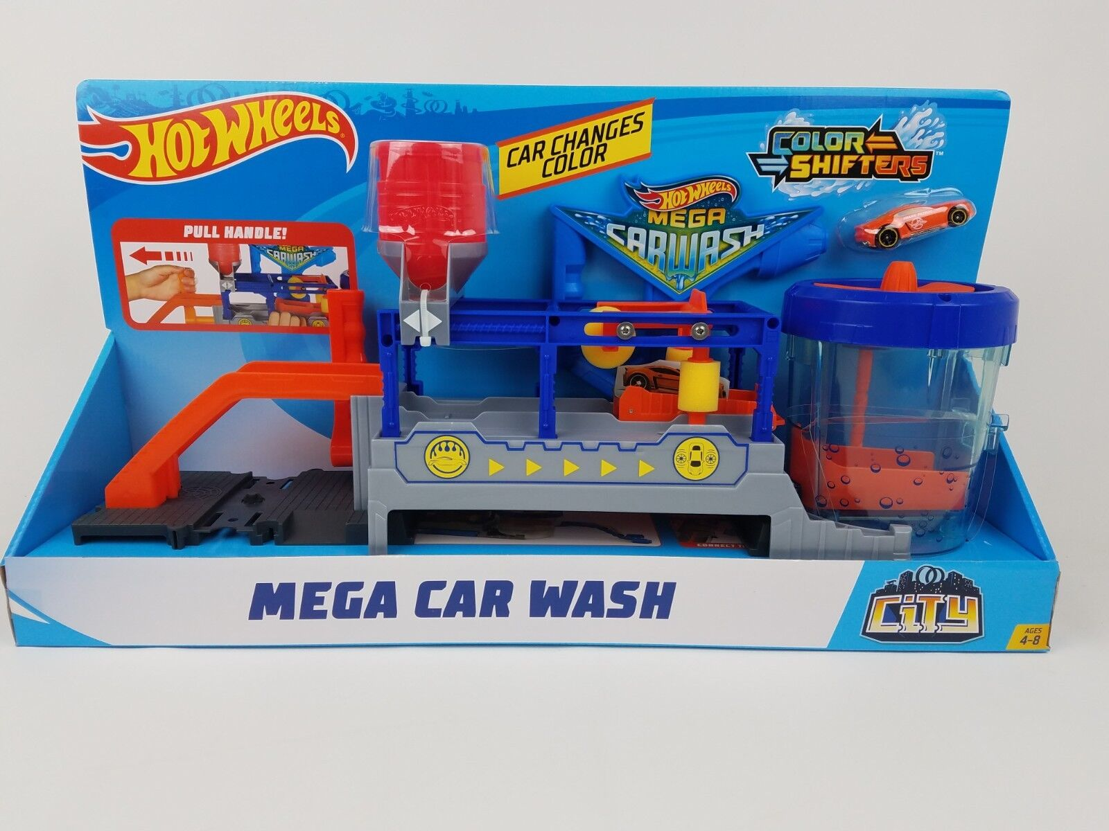 Hot Wheels FTB66 City Mega Car Wash Connectable Play Set wit