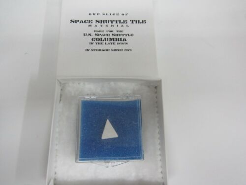 AUTHENTIC Space Shuttle Columbia Tile with Collector Case and COA LTD ED!!