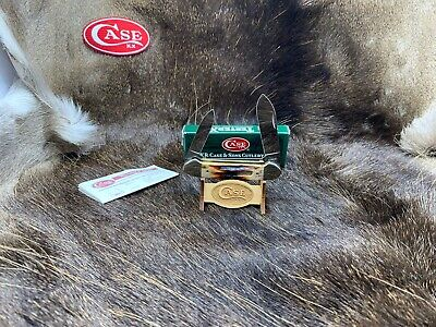 1997 Case R52131 Canoe Knife With Genuine Red Stag Handles Mint In Box - 91B