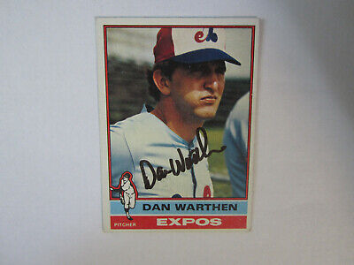 1976 Topps # 374 Dan Warthen Autograph Signed Card (M) Montreal Expos