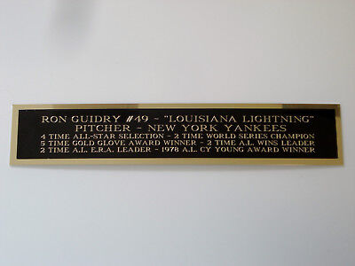 Ron Guidry Yankees Autograph Nameplate For A Baseball Bat Case Or Photo 1.5X8