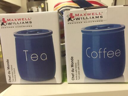 Maxwell Williams Coffee canister + Tea canister set 500mL  Little Bay Eastern Suburbs Preview