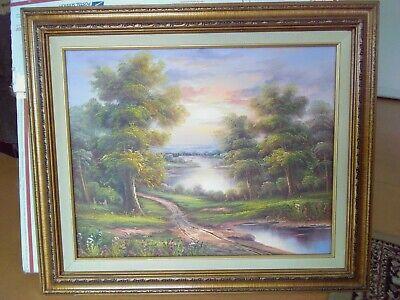 Famous Landscape Oil Paintings (Vintage Landscape Original Oil Painting Famous artist C.Freeman 22