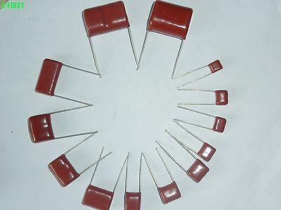 10 Values 100pcs 1000v 0.001uf0.12uf Cbb Metal Film Capacitors Assortment Kit