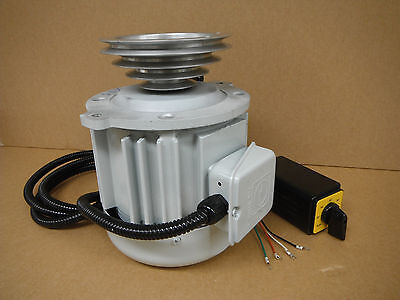 Replacement Motor For Bridgeport Type Mill Milling Machine Vsm3-sp Step Pulley