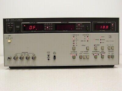 Hp Agilent 4276a Lcz Meter 100 Hz To 20 Khz