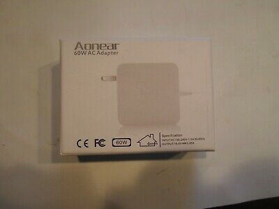 "Aonear Replacement 60W AC Adapter T-Tip Charger Mac Book Pro 13"" After Late 2012, used for sale  Shipping to India"