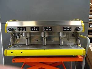 Wega POLARIS Yellow 3 group coffee machine Brunswick East Moreland Area Preview