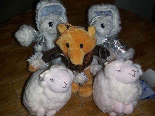 x5 Bath & and Body Works FOX POLAR BEAR LAMBIE CHRISTMAS TREE ORNAMENT RARE x5