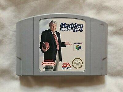MADDEN FOOTBALL 64 Nintendo 64 N64 Game PAL VERSION