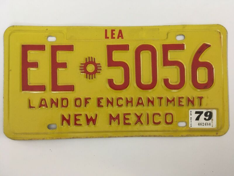 1979 New Mexico License Plate Natural Sticker